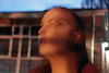 Vision Weakens (Bryony Harper) Tags: person people photography orange night sunset movement blur distortion disturbing scary colour digital