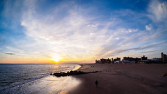 January Sunset (deepaqua) Tags: brooklyn lenstagger beach atlanticocean sunset coneyisland sand winter offseason ocean goldenhour breaker