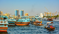 D71_6467-Pano.jpg (David Hamments) Tags: dubai thecreek panorama uae dhows