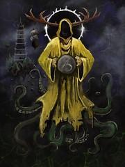 The King in Yellow (Lino M) Tags: lino martins painting king yellow lovecraft monster hastur robe hood pagoda eclipse moon cthulhu procreate ipad apple pencil art dark moody