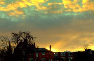 Early morning skies in Preston