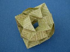 Tangled Star (ISO_rigami) Tags: modular origami 3d a4 sid sidx eckhardhennig cube