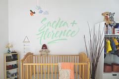 Sacha + Florence mural.