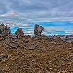 Iceland Republic - Lava Hard Bedrock - View from our Trail Hike thumbnail