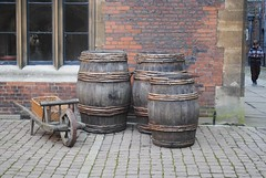 Roll out the barrels (zawtowers) Tags: hampton court palace east molesey surrey henry viii historic royal residence saturday february 17th sunny dry visit henryviiikitchens kitchens large scale cooking era barrels ale beer