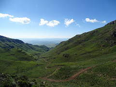 a road less travelled Ongeluksnek down to South Africa from Lesotho