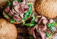 steak burger...yummy! (sonja-ksu) Tags: food steak burger meat appetizer foodphotography