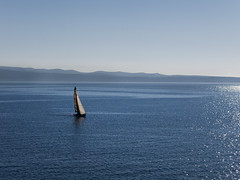 Sailing... (LukaBoban) Tags: sea sail sailboat yacht white blue maritime calmness seascape shore split croatia canon powershot g15
