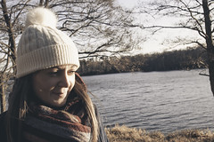 A cold walk with my wife. (mattpacker1978) Tags: person girl woman face portrait wooly hat cold water lake virginia picture photography portraiture scarf hair winter canon canondigital canonphotography canonlife canondslr canon24105 chilly love life family 2018 tree