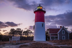 Nauset Light at Dusk (Samantha Decker) Tags: canonef24105mmf4lisusm canoneos6d capecod ma massachusetts nausetlight newengland outercape samanthadecker lighthouse