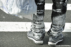 Wisdom Is Where You Find It (Trish Mayo) Tags: harlem text writing quotes pants