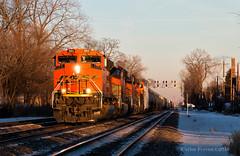 A Slim Window (Wheelnrail) Tags: bnsf burlington northern santa fe railway train trains emd sd70ace freight evening light chicago cicero riverside racetrack subdivision chicagoland rail road railroads winter sun