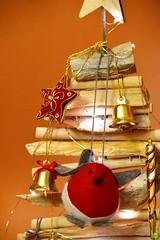 Bird on a tree (petrOlly) Tags: europe europa polska poland polen choszczno winter christmas christmastree decoration object objects