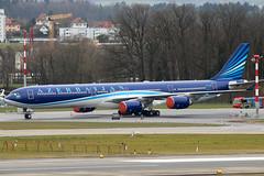 4K-AI08 (GH@BHD) Tags: 4kai08 airbus a340 a340600 ahy azerbaijanairlines zrh lszh zurichairport zurich kloten wef wef2018 airliner aircraft aviation