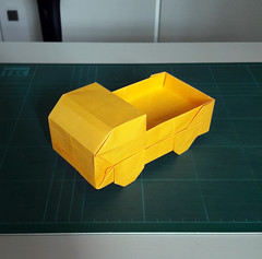 Lorry (orig4mi.) Tags: lorry truck origami paperfolding