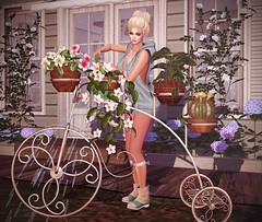 So Ready For Spring (lauragenia.viper) Tags: bento chloe escalated funkyjunk glamaffair lelutka lumipro maitreya mosquitosway nantra secondlife secondlifefashion tmcreation zoe flower spring bun boots hoodie capris bicycle decor plants outdoor groupgift gift freebie avatar virtual