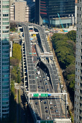 Aerial view of highway in Tokyo, Japan (phuong.sg@gmail.com) Tags: aerial air airplane asphalt avenue bridge bus car color concrete country direction drive fast freeway green highway hour intersection junction landscape lane line motion outdoors overpass perspective road route rush scene scenery sky speed street sun sunlight sunset sunshine traffic transportation travel truck underpass urban view way weaving