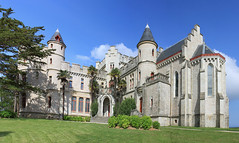 Park and Castle (chrisdingsdale) Tags: castle castles gothic historic tower fortification tourism travel architecture exterior medieval building religion religious area property basque country hendaye abbadia visit museum walls old ancient history arthistory entry stairs