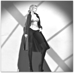 B&W (Sivyaleah (Elora)) Tags: blueberry cake coco coat boots black white lelutka simone mesh bento maitreya lara blonde girl female woman avatar virtual truth benny legging wool felt breathe satoko makena