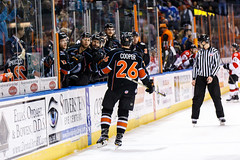 """Kansas City Mavericks vs. Cincinnati Cyclones, February 2, 2018, Silverstein Eye Centers Arena, Independence, Missouri.  Photo: © John Howe / Howe Creative Photography, all rights reserved 2018. • <a style=""""font-size:0.8em;"""" href=""""http://www.flickr.com/photos/134016632@N02/39219887965/"""" target=""""_blank"""">View on Flickr</a>"""