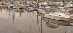 Marina reflections (jack cousin) Tags: whitby yorkshire coast shore seashore harbour port quay tourist tourists tourism travel touristattraction resort holiday vacation daytrip popular bridge buoy reflection boat boats yacht mast masts sail sails radar antennae arial tiedup moored mooring tethered rope cable river riveresk marina mooringpost motorboat