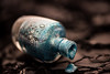 In a Bottle (Amy Maher) Tags: nikond750 105mm inabottle glitter black turquoise macro lace blue opi nailpolish polish bottle macromondays
