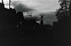 028_10 (jeaninem90) Tags: analogue blackandwhitephotography sillouette skyline dusk leeds statue