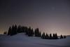 The Wave at Night ... (Rogg4n) Tags: winter snow tree wintery quiet bluehour landsape chauxdefonds switzerland suisse canoneos100d sigma1835mmf18dchsm neige season neuchâtel jura hill nature têtederan blackandwhite panorama sunrise february pinetree fir sapin covered bw hiver paysage mist misty fog landscape winterscape minimalism star night nightphotography nightscape astro astrophotography longexposure