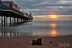 Sunrise in Paignton (simondayuk) Tags: sunrise paignton brixham devon pier coast coastal coastaltown beach beaches seascape beachlove coastline landscape sunrisebeach driftwood pebbles nikon d5300