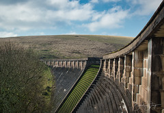 Avon Dam on Dartmoor in Devon (simondayuk) Tags: dartmoor avon dam devon moors reservoir manmade structure clouds sky tree grass heather hill tor nikon d5300 prime lens