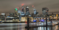 London (handmiles) Tags: colour london city capital architecture building tower skyscraper riverthames thames longexposure night nightime nightphotography outdoor outside out sony sonya77m2 sonya77mark2 tamron tamron18270mm mileshandphotography2017