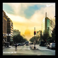 #activetransportation fog lifting ❤️ DC 💫 #instaDC #DC #FutureStartsHere