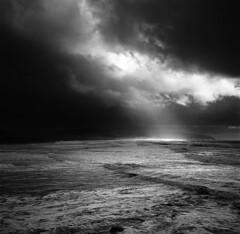 The tempestuous wind and tumultuous water (Zeb Andrews) Tags: hasselblad film oregon oregoncoast ocean landscape pacificnorthwest pacificocean stormy mediumformat 6x6 blackwhite capekiwanda scannedatbluemooncamera nikoncoolscan9000