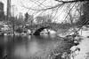 Gapstow Bridge in Central Park (Photos By RM) Tags: gapstowbridge centralpark blackandwhite blackwhite black white snow bridge city manhattan newyorkcity newyork filter longexposure