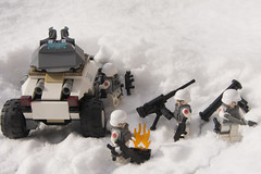 Armoured and Snowed In (LegoInTheWild) Tags: moc afol lego minifigure army brickarms sidan snow