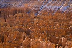 Strange Planet (Kurt Lawson) Tags: bryce canyon copyrighted eroded fins hoodoo national orange park red snow utah winter