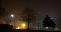 _MG_3253.CR2 (jalexartis) Tags: fayetteville fayettevillenc fayettevillenorthcarolina fog foggy foggymorning downtownfayetteville downtown firstpresbyterianchurch
