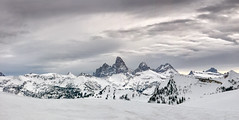 Panorama of Grand Tetons from Grand Targhee_Panorama4 (maryannenelson) Tags: wyoming tetons grandtarghee landscape winter peaks mountains ski snowboard snow panorama