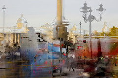 ... (Michael Lee - mplee.com) Tags: hdr icm incamera nophotoshop trafalgar square london street city texture mplee layer ghosting multiple exposure abstracted abstract