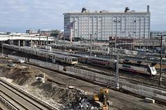 Sunnyside Quadfecta (CrispyBassist) Tags: railroad railway train track transit subway newyorkcity newyork newyorkcitysubway newyorkcitytransit nyc nycta nyct queens hunterspoint sunnysideyard amtrak amtk lirr longislandrailroad njt njtransit