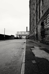 Bascule Bridge, Liverpool (Henry Hemming) Tags: liverpool merseyside england regent road bascule bridge tobacco warehouse mono bw