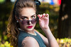 Sunglasses (marcomariamarcolini) Tags: beauty portrait model shooting classy sunglasses greeneyes blondehair pearls stunning young woman girl pose colors wow nikond810 nikkor70200f4vr bokeh sharpness bigformat highresolution lipstick makeup details marcomariamarcolini colorful