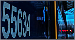 Winter blues (david.hayes77) Tags: chester 2018 cheshire dmu class142 pacer northern 142043 winter bokeh arty reflections sony dscrx100m3 55634 railway train