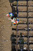 Umbrella Seller! (ashik mahmud 1847) Tags: bangladesh line light d5100 nikkor people shadow aerialview umbrella railway