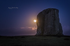 Super Blue Moon at Aneurin Bevan Memorial (karlmccarthy1969) Tags: super moon blue memorial