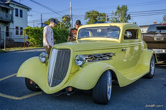 1934 Ford Three Window Coupe (kenmojr) Tags: aw cruise cruisein carshow car auto automobile woodside novascotia canada vehicle transportation classic vintage antique summer dartmouth kenmo kenrmorrisjr 2017 1934 ford coupe threewindow 3window hotrod yellow streetrod