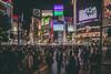 Shibuya Crossing [Explored on 2-6-16] (IRRphotography) Tags: shibuya night city japan tokyo travel signs intersection crossing
