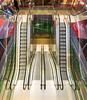 Stairs 1 (genf) Tags: markthal rotterdam trap roltrap garage parkeergarage color kleur parking symmetry symmetrie binnen indoor downstairs beneden sony a99ii sigma 1020