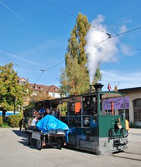Bern, Brunnadernstrasse 28.09.2014 (The STB) Tags: bern berna publictransport öpnv tram tramway strassenbahn strasenbahn switzerland dieschweiz suisse suiza steamtrain dampftram dampfstrassenbahn
