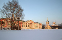 RUS65324(Kuskovo. Sheremet'evs Palace. Winter Time) (rusTsky) Tags: winner winter architecture old vintage church palace moscow travel city sunny blue outdoor capital canon